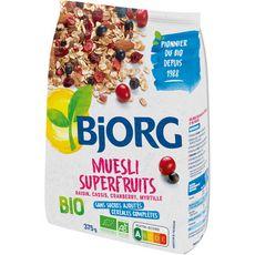 BJORG Muesli de céréales bio superfruits 375g
