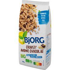 Bjorg Crousti'avoine céréales bio au chocolat 500g