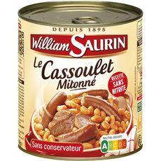 WILLIAM SAURIN Cassoulet mitonné sans colorant sans arôme artificiel 2 personnes 840g