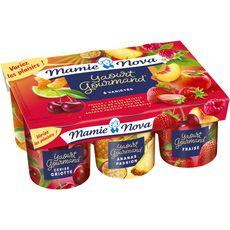 MAMIE NOVA Yaourt brassé aux fruits panaché 6x150g