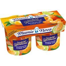 MAMIE NOVA Yaourt brassé à la mandarine et au citron vert 2x150g