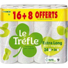LE TREFLE Le Trèfle Papier toilette maxi-feuille compact rouleaux 16+8 offerts 16+8 offerts