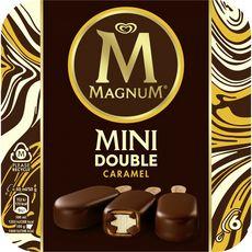 MAGNUM Magnum Mini bâtonnet glacé à la vanille et double caramel 300g 6 pièces 300g