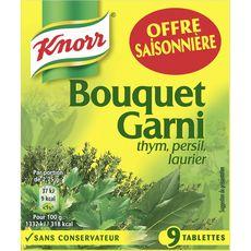 KNORR Bouquet garni thym, persil et laurier 9 tablettes 99g
