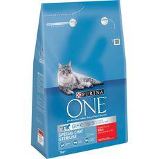 Purina One PURINA One bifensis croquettes au boeuf blé pour chat stérilisé