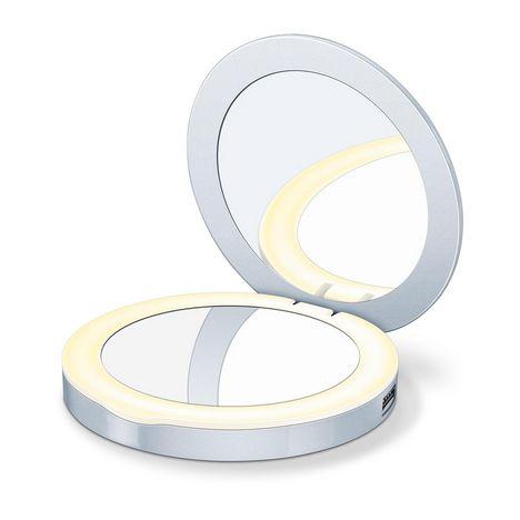 BEURER Miroir cosmétique éclairé Powerbank BS 39 - Blanc