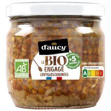 D'aucy D'AUCY Lentilles bio cuisinées aux carottes et oignons