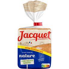 JACQUET Pain de mie nature sans sucres ajoutés 550g