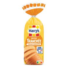 HARRYS Brioche tranchée sans additifs à la farine complète 485g
