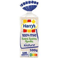 HARRYS Pain de mie nature sans sucre ajouté sans huile de palme sans croûtes 20 tranches 500g