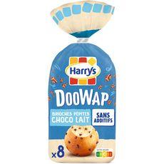 DOOWAP Brioches sans additifs aux pépites de chocolat au lait 8 pièces 320g