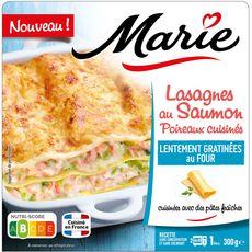 MARIE Lasagnes au saumon et poireaux cuisinés 1 portion 300g