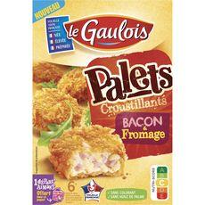 LE GAULOIS Palets croustillants bacon et fromage environ 6 pièces 200g