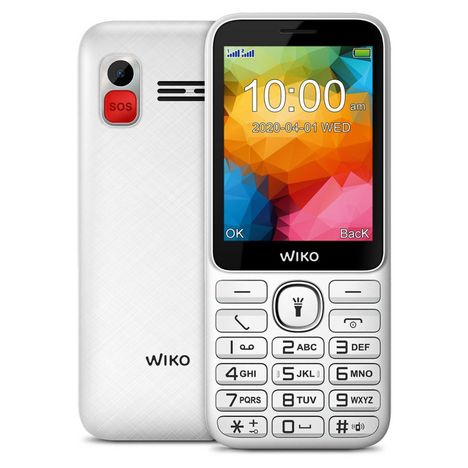 WIKO Téléphone portable F200 LS Blanc