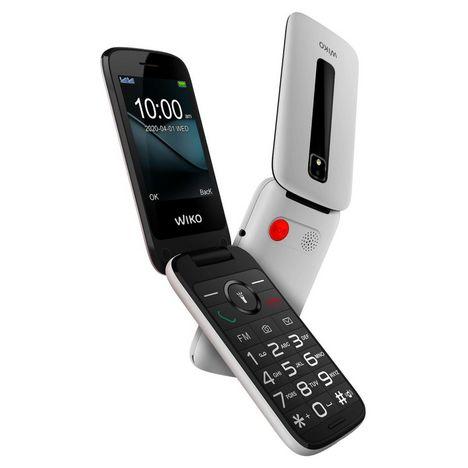 WIKO Téléphone portable F300 LS Blanc - A clapet