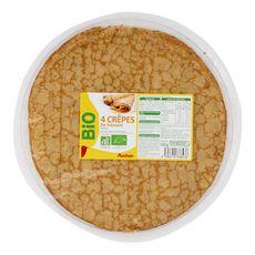 AUCHAN BIO Auchan Bio Crêpe de froment sucrée 160g 4 pièces 160g