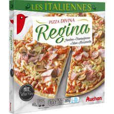 AUCHAN Auchan Pizza régina à pâte fine 365g 2 personnes 365g