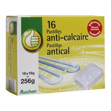 POUCE Pastilles anti-calcaire 16 pastilles de16g 256g