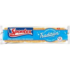 SPONTEX Eponges tradition résistante à la javel 3 éponges