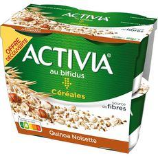 ACTIVIA Yaourt au bifidus céréales quinoa noisettes 4x120g