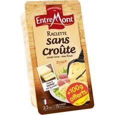 ENTREMONT Raclette sans croûte douce 15 tranches 350+100g offerts