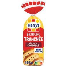 HARRYS Brioche tranchée sans additifs aux pépites de chocolat 485g