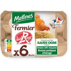 MATINES Matines 6 oeufs fermier label rouge