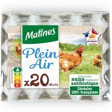 MATINES MATINES Œuf moyen à gros de poules élevées en plein air sans OGM x20 20 œufs