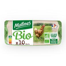 MATINES MATINES Oeuf bio de poules élevées en plein air x10 10 œufs