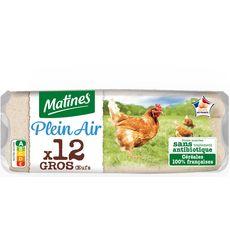 Matines MATINES MATINES Oeuf de poules élevées en plein air x12