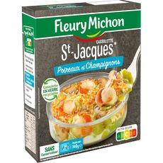 FLEURY MICHON Cassolette de Saint-Jacques poireaux et champignons 140g