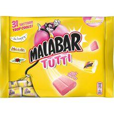 MALABAR Chewings-gum goût tutti frutti 214g