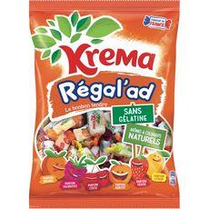 KREMA Régal'ad assortiment de bonbons fruités 590g