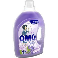 OMO Lessive liquide parfum lavande et patchouli 40 lavages 2l