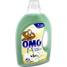 OMO Lessive liquide jasmin & fleur de coton 40 lavages 2l