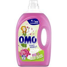 OMO Lessive liquide rose & lilas blanc 52 lavages 2,6l