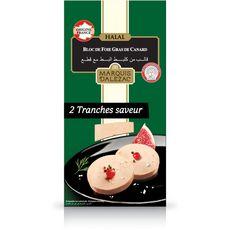 LABEYRIE Marquis d'Alezac Bloc de foie gras de canard halal 2 tranches 75g