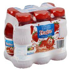 AUCHAN Auchan Eau de source aromatisée fraise bouteilles 6x25cl 6x25cl