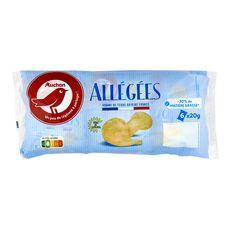 AUCHAN Chips allégées 6x20g