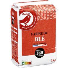 AUCHAN Farine de blé T45 1kg
