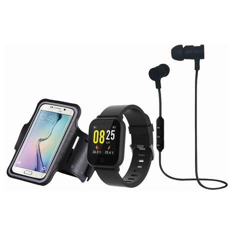 BLAUPUNKT Pack Montre connectée + Brassard + écouteurs sans fil - BLP6250