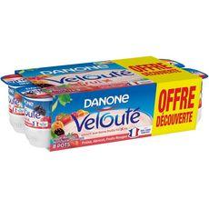 DANONE Velouté Fruix fraise abricot fruits rouges 8x125g