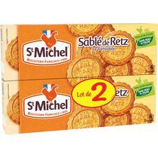 ST MICHEL Biscuits sablés de Retz le véritable, sachets fraîcheur Lot de 2 2x120g