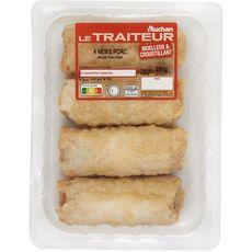 AUCHAN LE TRAITEUR Nems au porc 4x65g