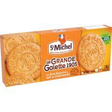 ST MICHEL La grande galette 1905 au sel de Guérande, sachets fraîcheur 3x3 biscuits 150g