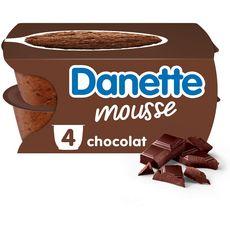 DANETTE Mousse chocolat 4x60g