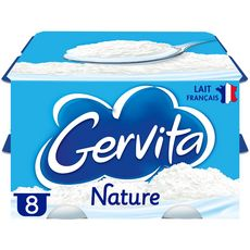 GERVITA Fromage blanc mousse nature 8x100g