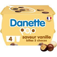 Danone DANETTE POP Crème dessert vanille billes 3 chocolats