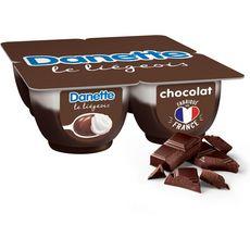 DANETTE Liégeois chocolat 4x100g