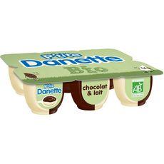 DANETTE Danette P'tite Danette Bio Crème dessert Chocolat et lait 6x65g 6x65g